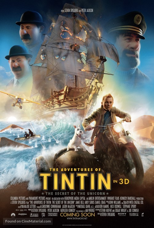 The Adventures of Tintin: The Secret of the Unicorn - Movie Poster