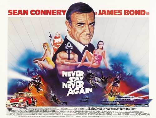 Never Say Never Again - British Movie Poster