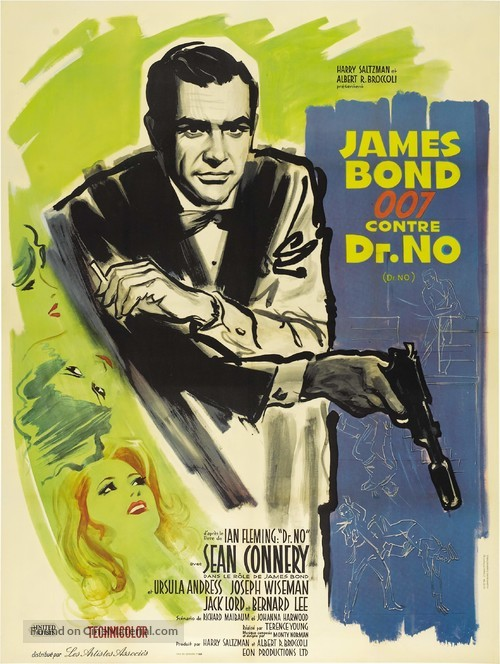 Dr. No - French Theatrical movie poster