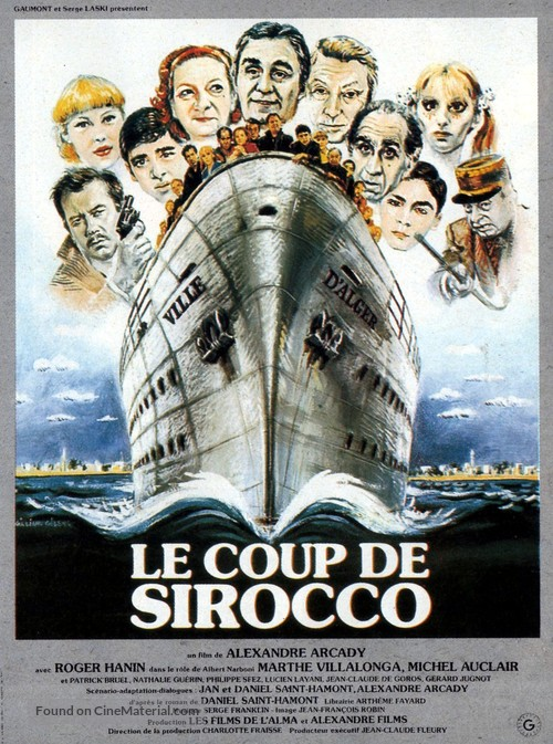 Le coup de sirocco - French Movie Poster