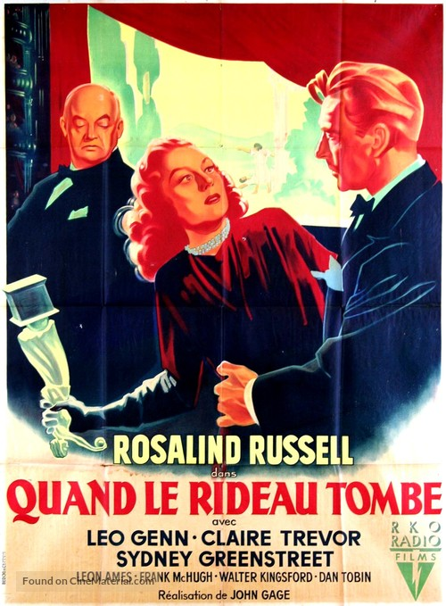 The Velvet Touch - French Movie Poster