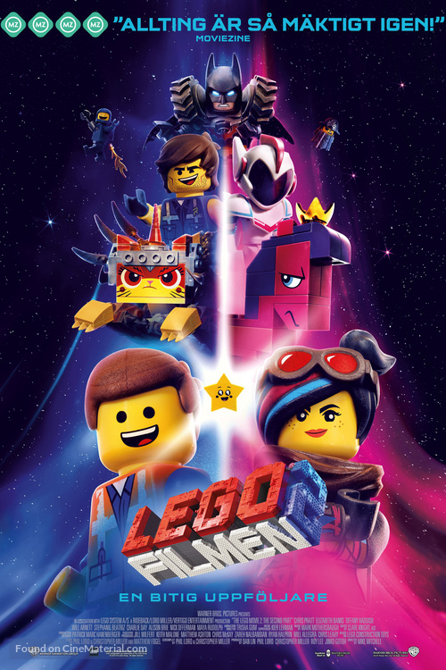 The Lego Movie 2: The Second Part - Swedish Movie Poster