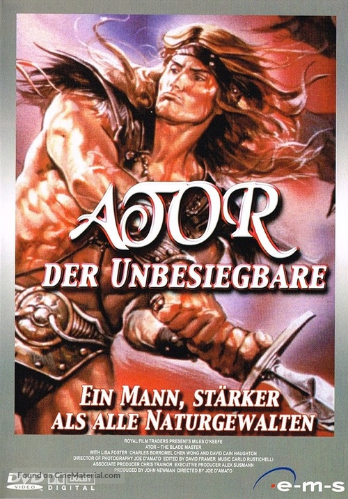 Ator 2 - L'invincibile Orion - German DVD movie cover