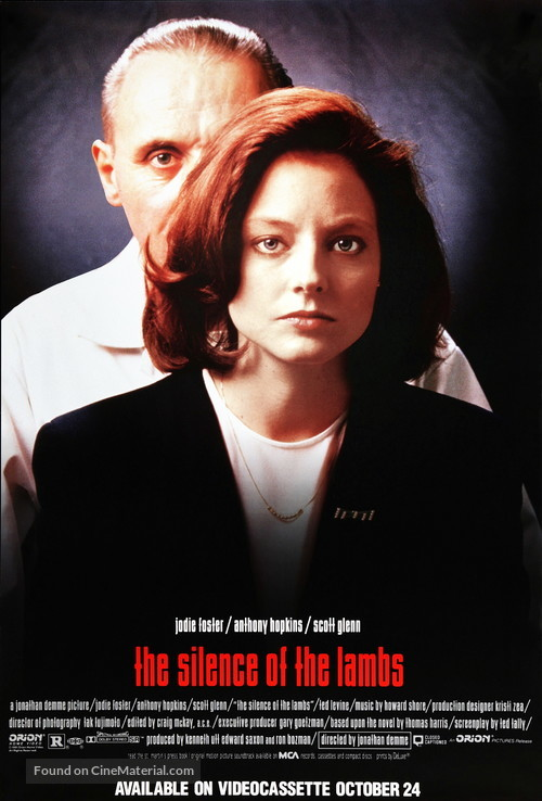 The Silence Of The Lambs 1991 Hopkins Foster movie poster print
