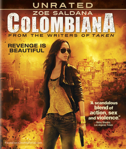 Colombiana - Blu-Ray movie cover
