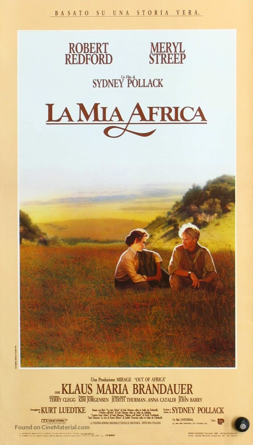 Out of Africa - Italian Movie Poster