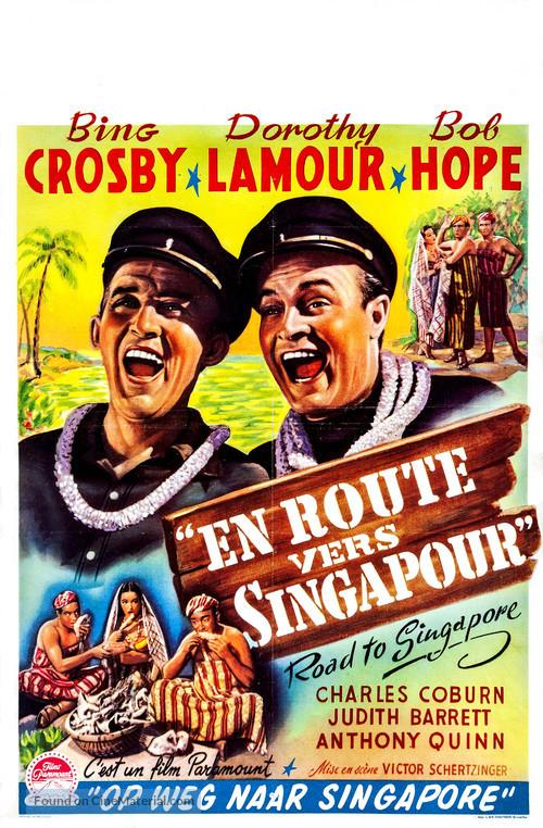 Road to Singapore - Belgian Movie Poster