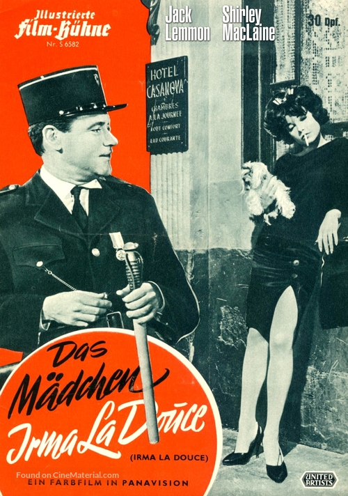 Irma la Douce - German Movie Poster