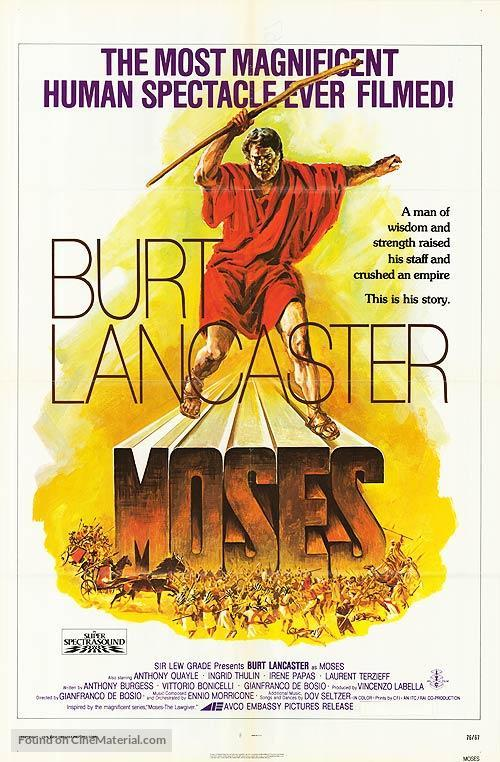 """""""Moses the Lawgiver"""" - Movie Poster"""