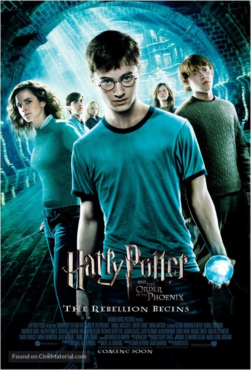 Harry Potter and the Order of the Phoenix - British Movie Poster
