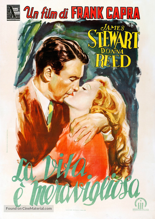 It's a Wonderful Life - Italian Movie Poster