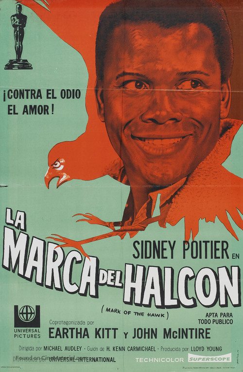 The Mark of the Hawk - Argentinian Movie Poster