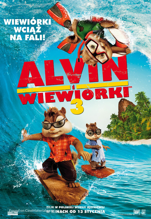 Alvin and the Chipmunks: Chipwrecked - Polish Movie Poster