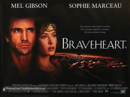 Braveheart 1995 British Movie Poster