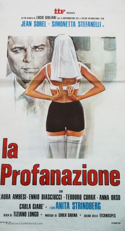 La profanazione - Italian Movie Poster