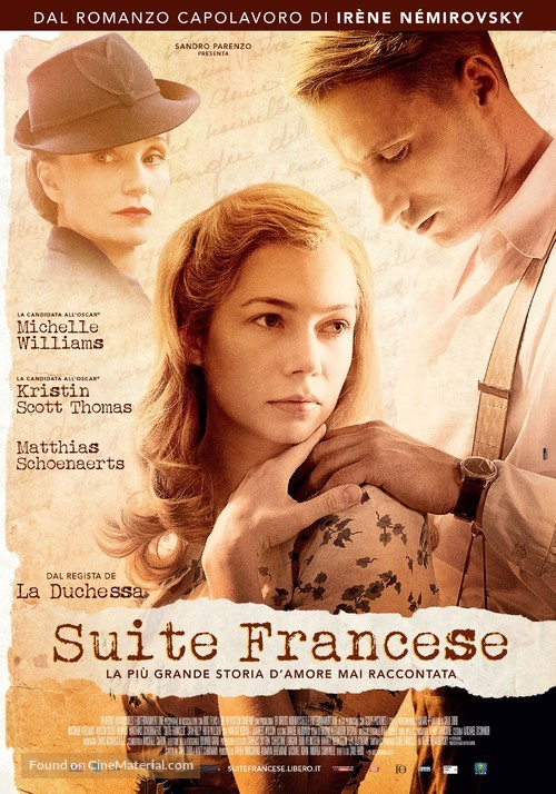 Suite Française - Italian Movie Poster