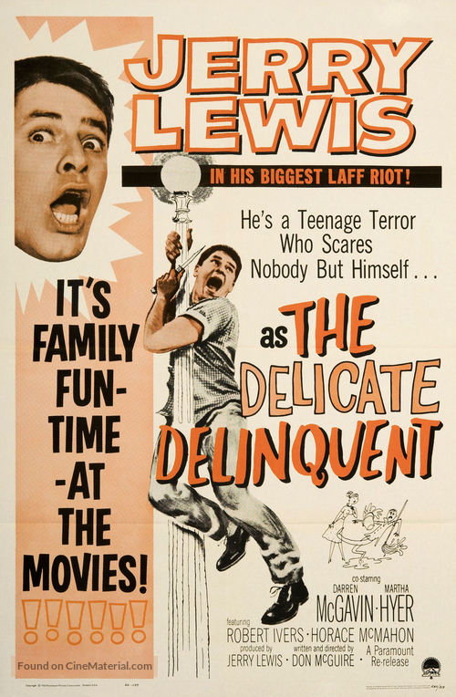 The Delicate Delinquent - Re-release movie poster