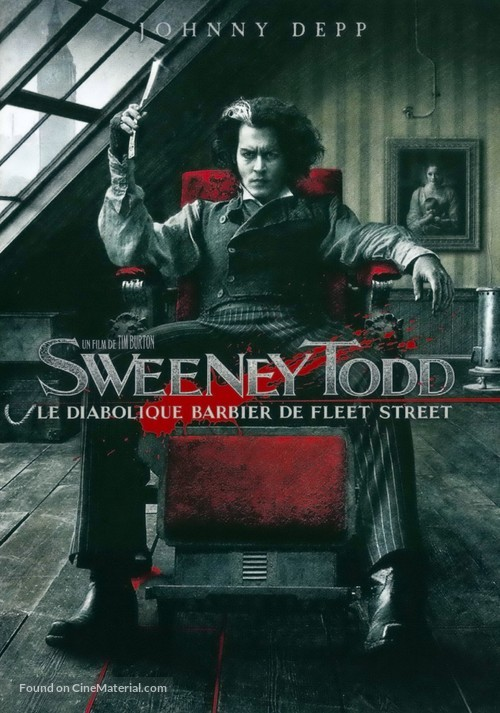 Sweeney Todd: The Demon Barber of Fleet Street - French DVD movie cover