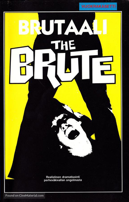 The Brute - Finnish VHS movie cover