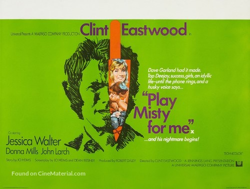 Play Misty For Me - British Movie Poster