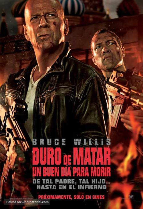 A Good Day to Die Hard - Argentinian Movie Poster