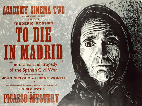 Mourir A Madrid 1963 British Movie Poster