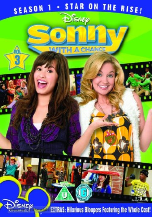 """""""Sonny with a Chance"""" - British DVD movie cover"""