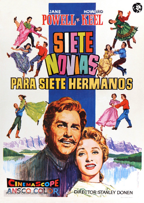 Seven Brides for Seven Brothers - Spanish Movie Poster