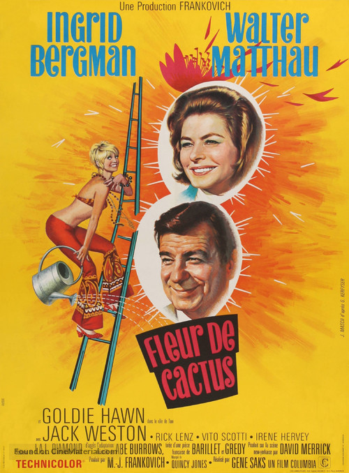 Cactus Flower - French Movie Poster