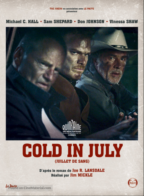 Cold in July - French Movie Poster