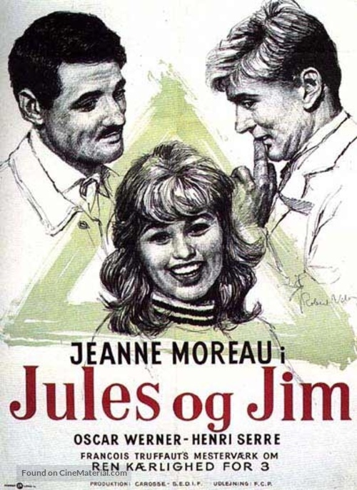 Jules Et Jim - Danish Movie Poster