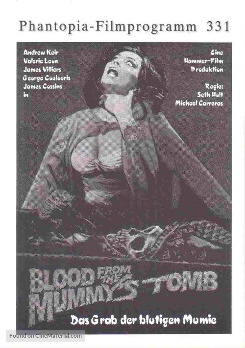 Blood from the Mummy's Tomb - German poster