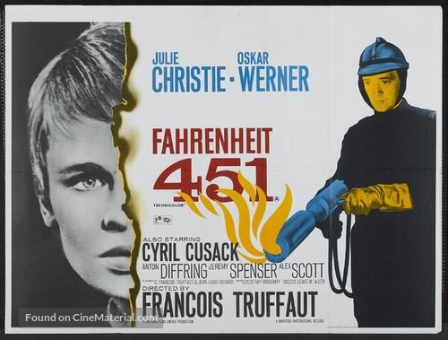 Fahrenheit 451 - British Theatrical movie poster
