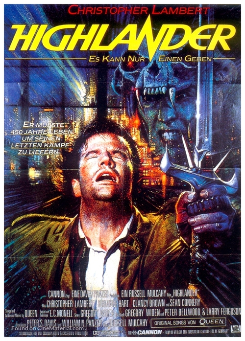 Highlander - German Movie Poster