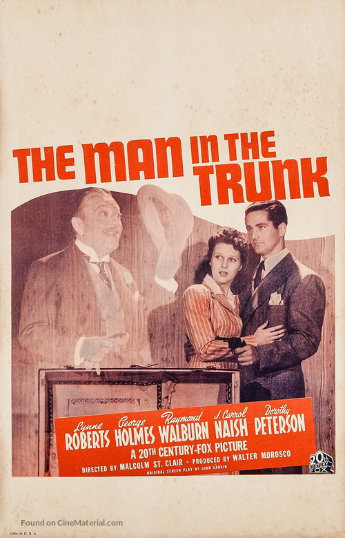 The Man in the Trunk - Movie Poster