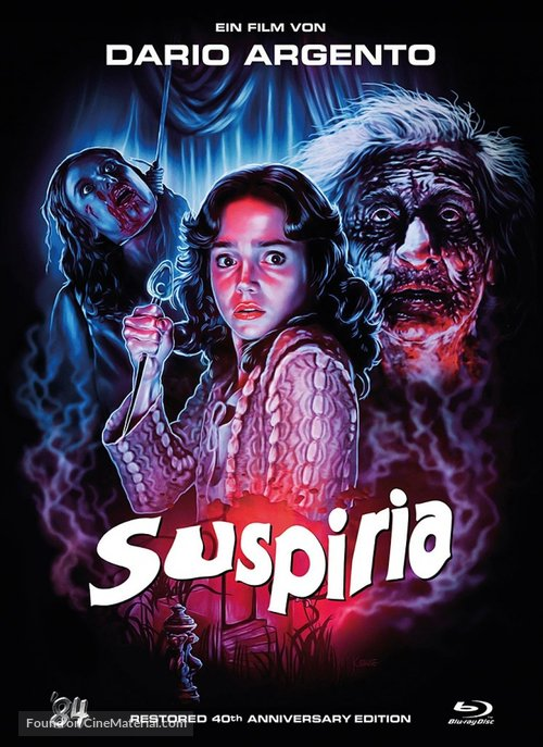 Suspiria - German Blu-Ray movie cover