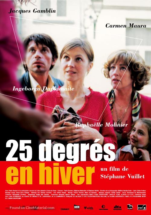 25 degrés en hiver - French Movie Poster