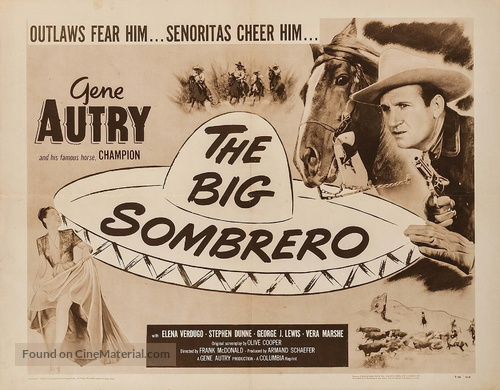 The Big Sombrero - Re-release movie poster