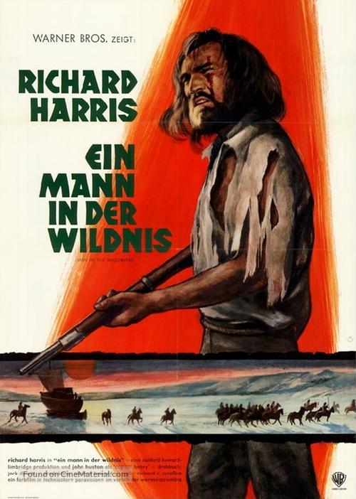 Man in the Wilderness - German Movie Poster