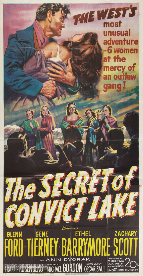 The Secret of Convict Lake - Movie Poster