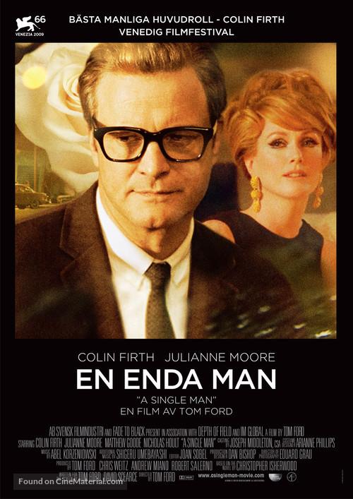 A Single Man - Swedish Movie Poster