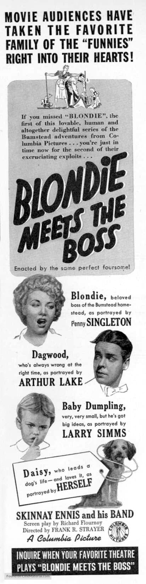 Blondie Meets the Boss - poster