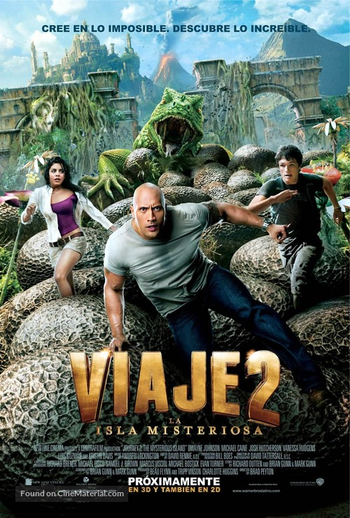 Journey 2: The Mysterious Island - Argentinian Movie Poster