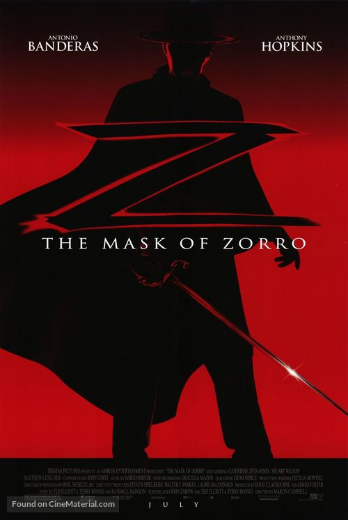 The Mask Of Zorro - Movie Poster