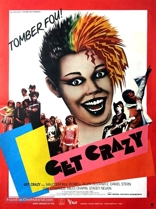 Get Crazy - French Movie Poster