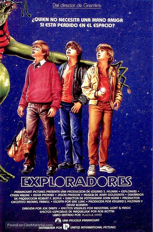 Explorers - Spanish Movie Poster