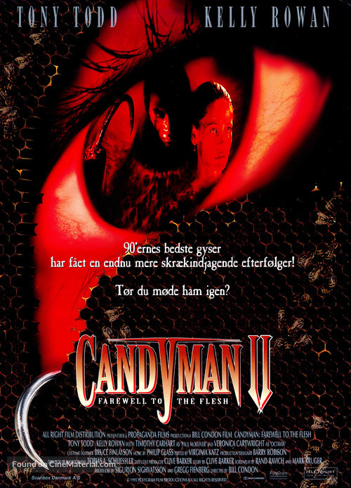 Candyman: Farewell to the Flesh - Danish Movie Poster
