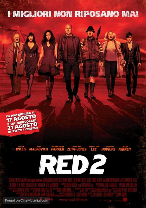 RED 2 - Italian Movie Poster