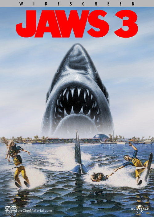 Jaws 3D - DVD movie cover