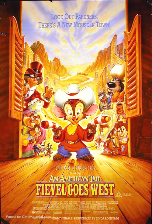 An American Tail: Fievel Goes West - Australian Movie Poster